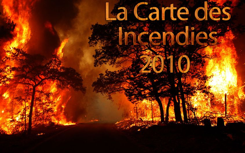 carte incendies tunisie 2010
