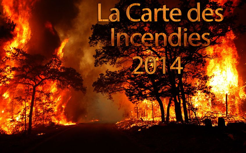 carte incendies tunisie 2014